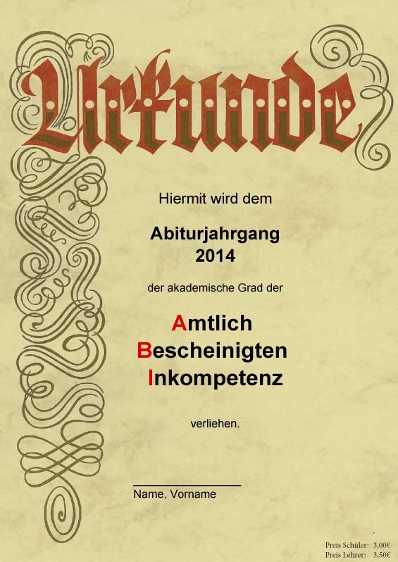 Abizeitung 2013/14