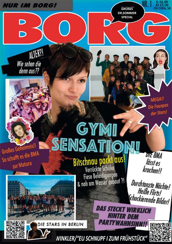 Titelbild der Abizeitung BORG