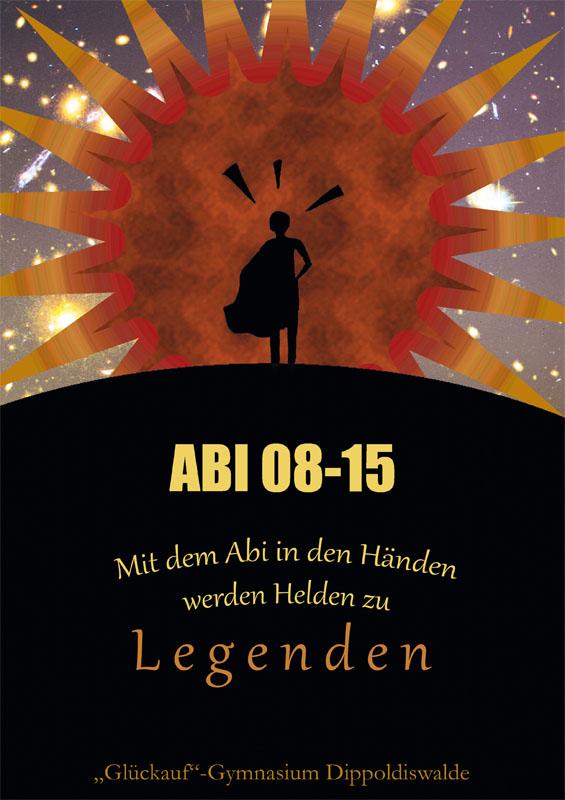 """Titelbild Abizeitung ABI 08-15 - """"Glückauf"""" - Gymnasium Dippoldiswalde"""