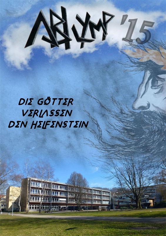 Titelbild Abizeitung 2015 Schule Helfenstein