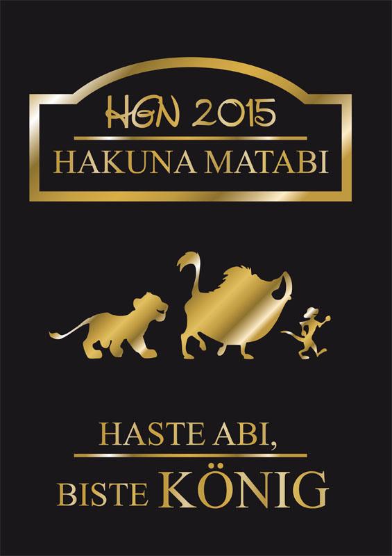 Titelbild Abizeitung HGN 2015