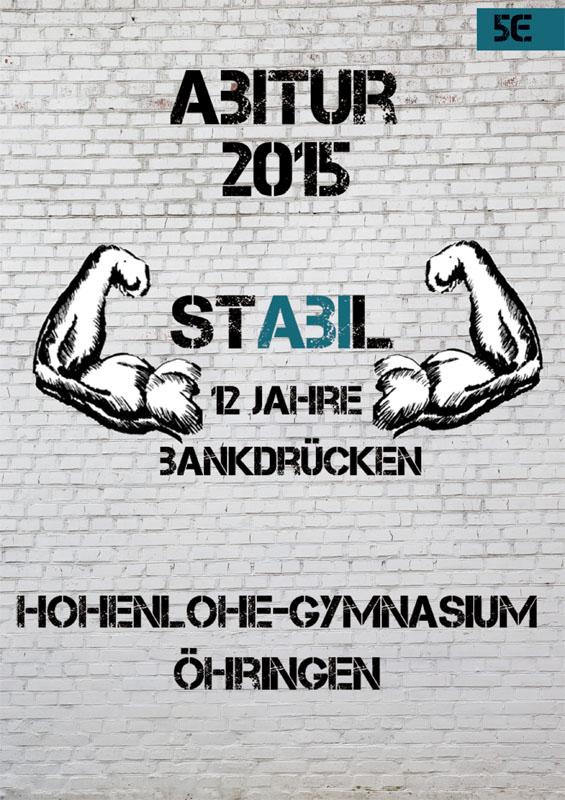 Titelbild Abizeitung 2015 Hohenlohe - Gymnasium Öhringen
