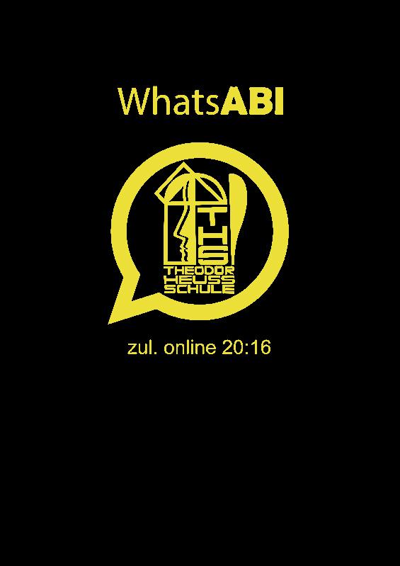 Titelbild der Abizeitung 2015/16 Theodor-Heuss-Schule Pinneberg