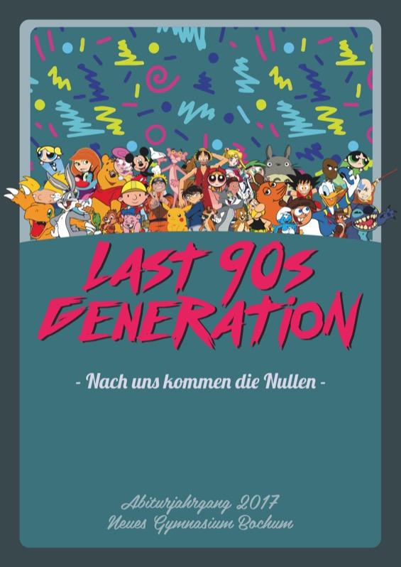 Titelbild der Abizeitung 2016/17 Neues Gymnasium Bochum