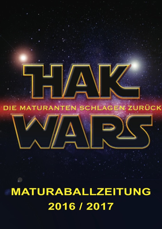 Titelbild der Maturazeitung 2016/17 HAK Judenburg