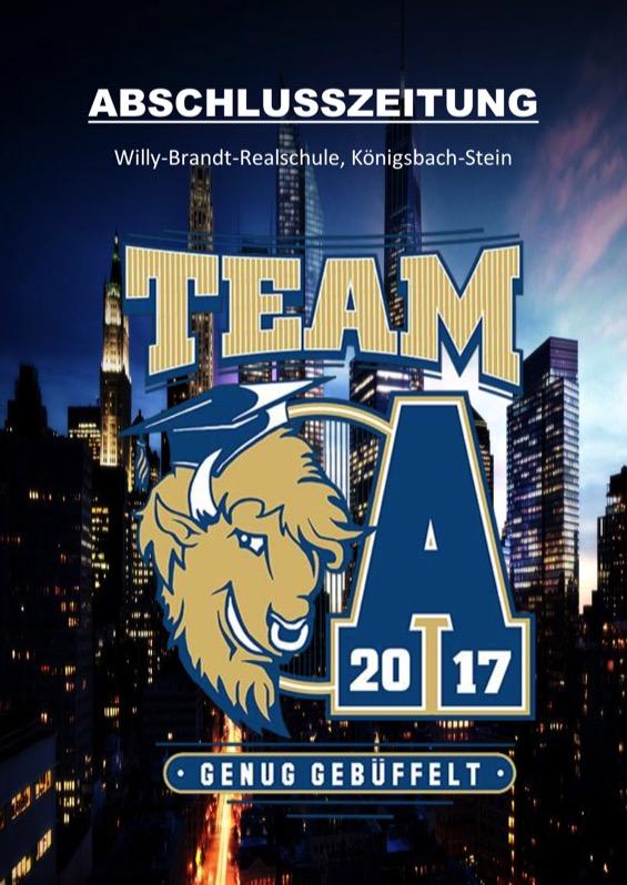 Titelbild der Abschlusszeitung 2016/17 Willy-Brand-Realschule