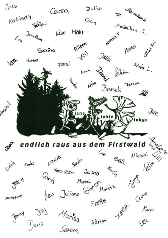 Titelbild der Abizeitung 2016/17 Evangelisches Firstwald Gymnasium Mössingen