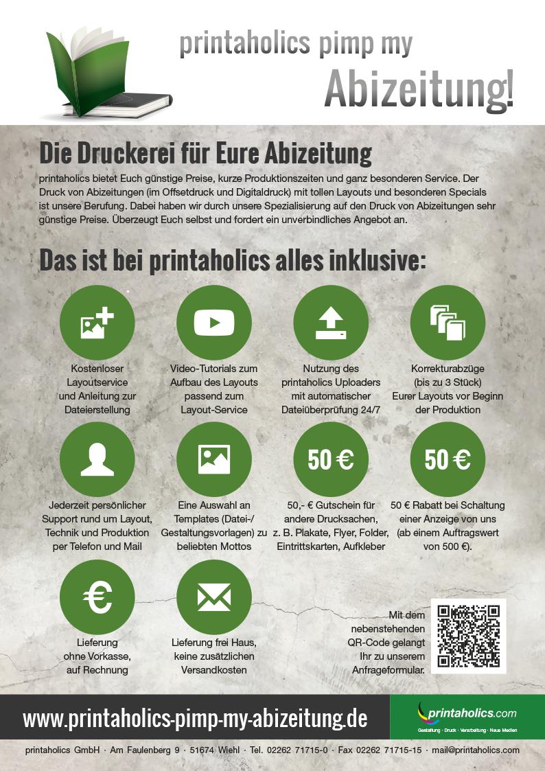 50 Euro Rabatt auf den Preis Eurer Abizeitung bei Schaltung einer ...