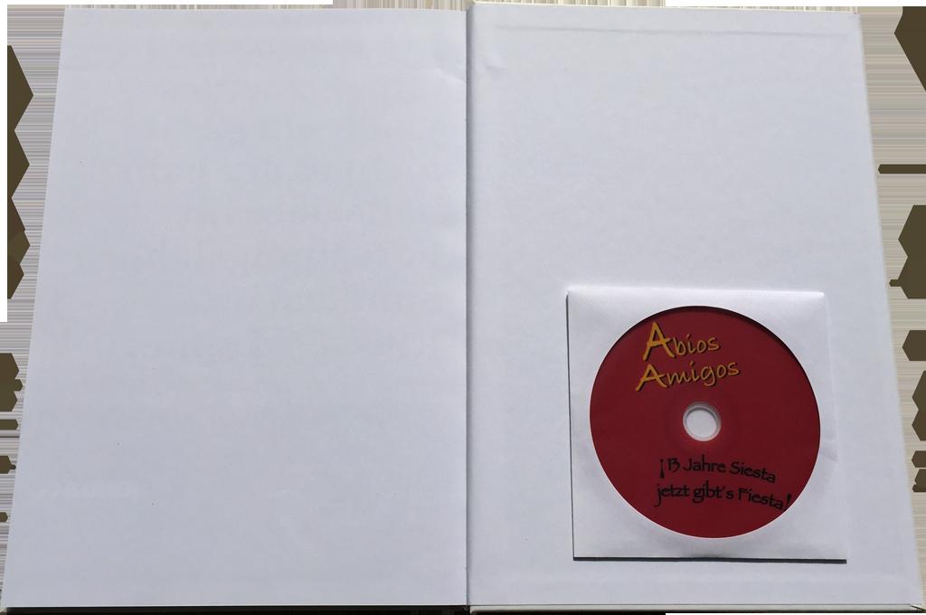 Abiturzeitung mit eingeklebter DVD