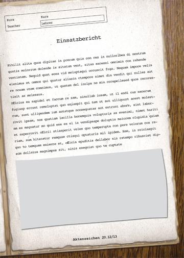 Gestaltungsvorlage Abizeitung Kursberichte Die Fälle des A.B.I.