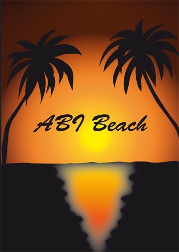 Gestaltungsvorlage Abizeitung Umschlag AB In Den Urlaub / ABI Beach