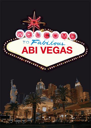 Gestaltungsvorlage Abizeitung Cover Abi Vegas