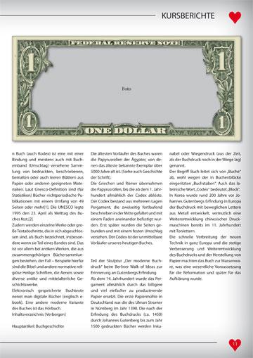 Gestaltungsvorlage Abizeitung Kursberichte