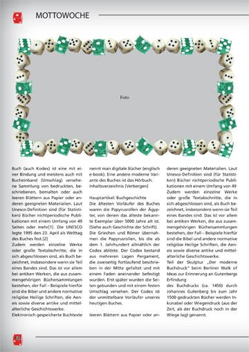 Gestaltungsvorlage Abizeitung Mottowoche