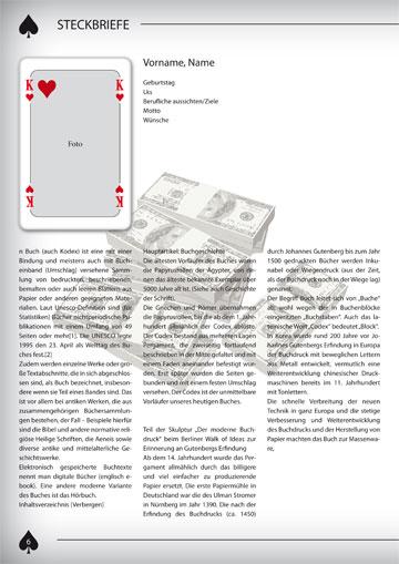 Gestaltungsvorlage Abizeitung Steckbrief männlich