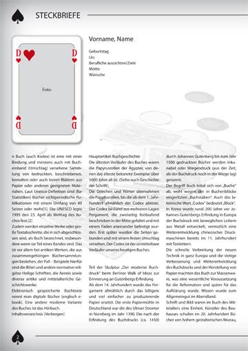 Gestaltungsvorlage Abizeitung Steckbrief weiblich