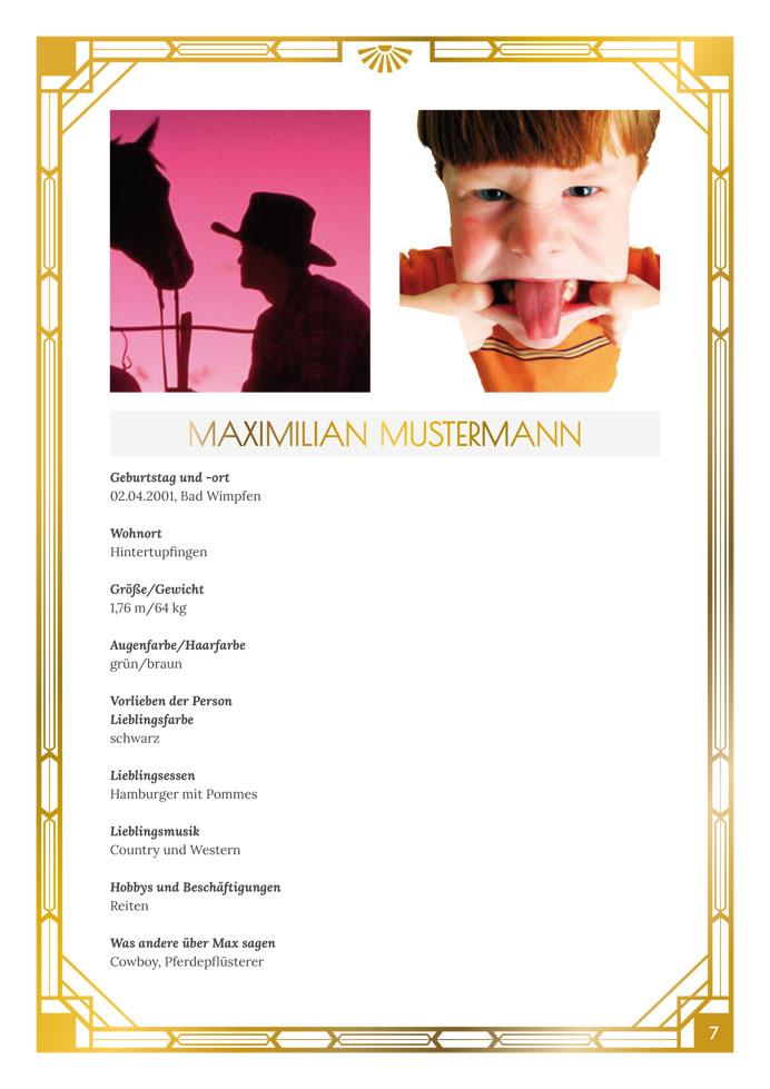 Layout Golden Twenties Profile Variante 2