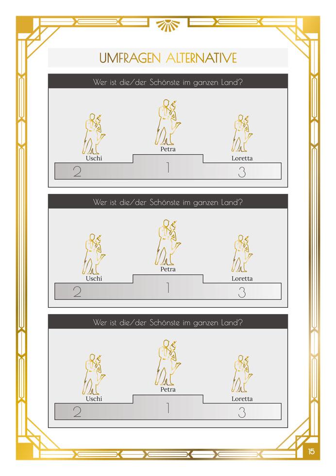 Layout Golden Twenties Statistiken/Umfragen Variante 2