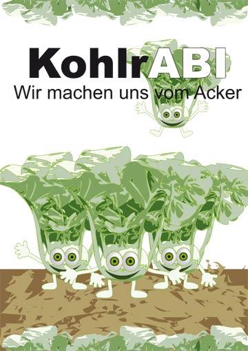 Gestaltungsvorlage Abizeitung KohlrABI Umschlag