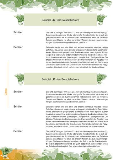 Gestaltungsvorlage Abizeitung KohlrABI Zitate