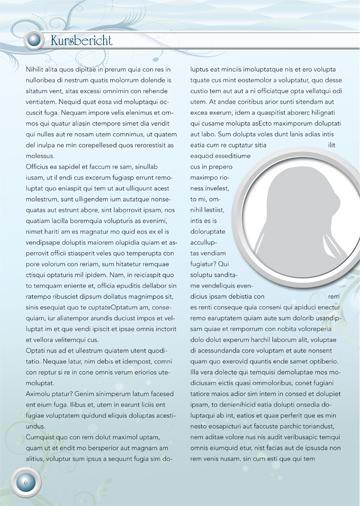 Gestaltungsvorlage Abizeitung Kurs-Berichte Reiselust