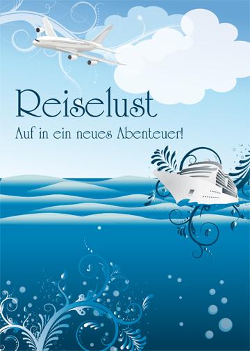 Gestaltungsvorlage Abizeitung Umschlag Reiselust