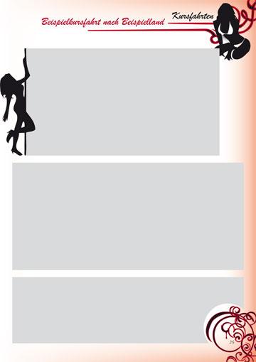 Gestaltungsvorlage Abizeitung Moulin Rouge - 13 Jahre im Rotstiftmilieu Bilderseite