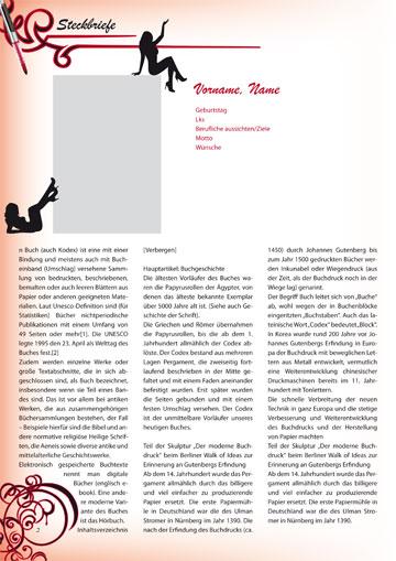 Gestaltungsvorlage Abizeitung Moulin Rouge - 13 Jahre im Rotstiftmilieu Steckbriefe