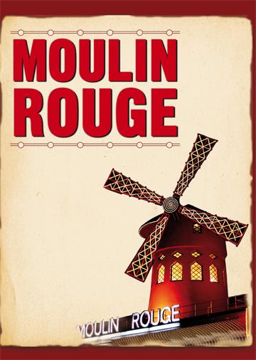 Gestaltungsvorlage Abizeitung Moulin Rouge