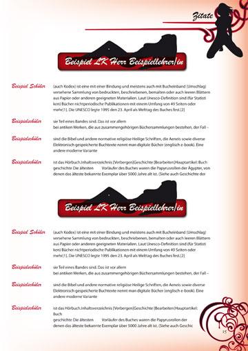 Gestaltungsvorlage Abizeitung Moulin Rouge - 13 Jahre im Rotstiftmilieu Zitate