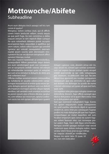Gestaltungsvorlage Abizeitung Mottowoche TherABI beendet
