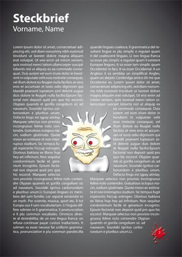 Gestaltungsvorlage Abizeitung Steckbriefe TherABI beendet
